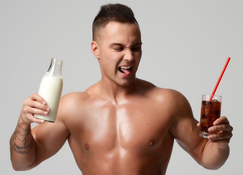 mleko, kefir, cola, dieta, sport