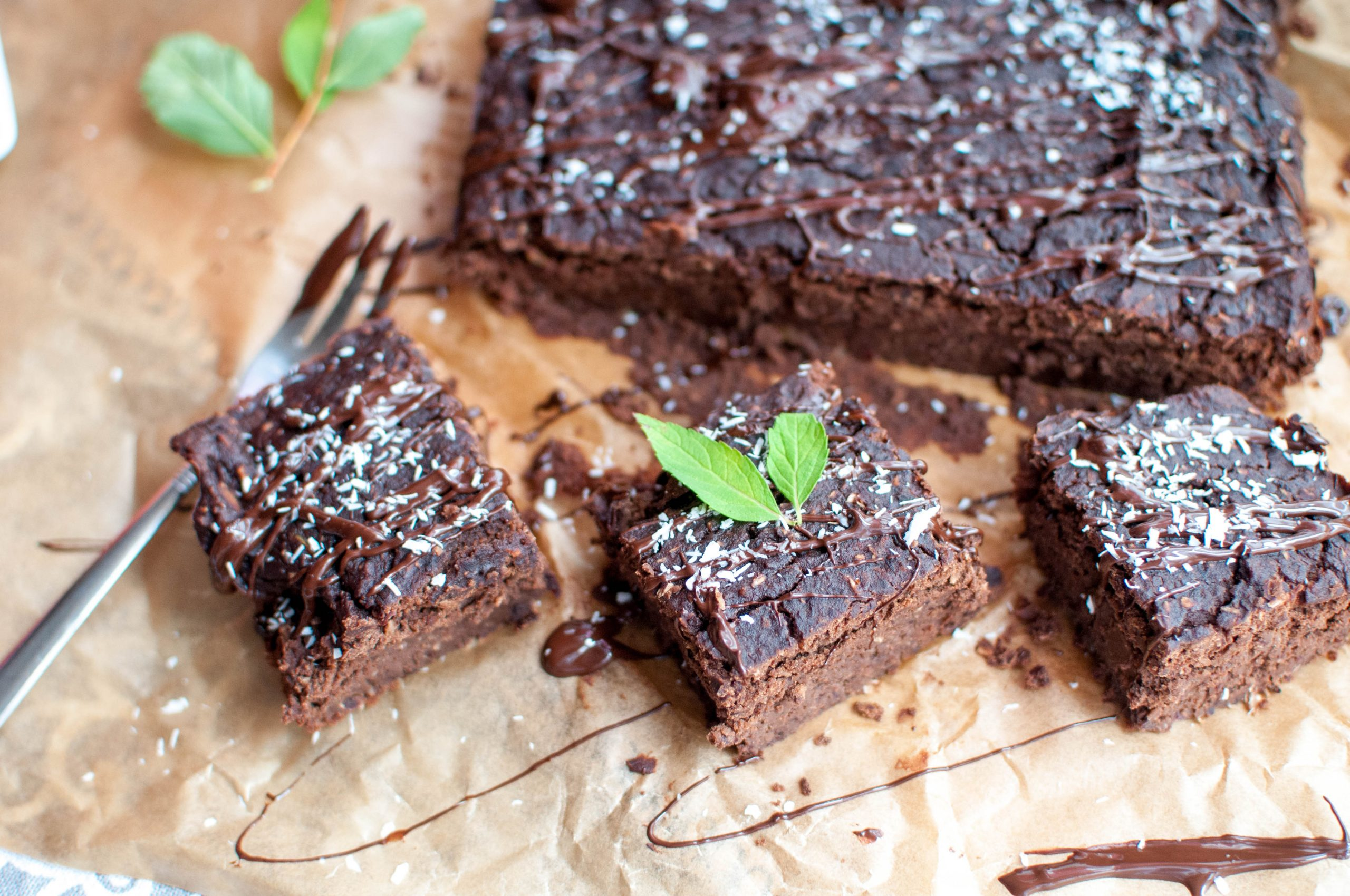 Czekoladowe brownie z fasoli