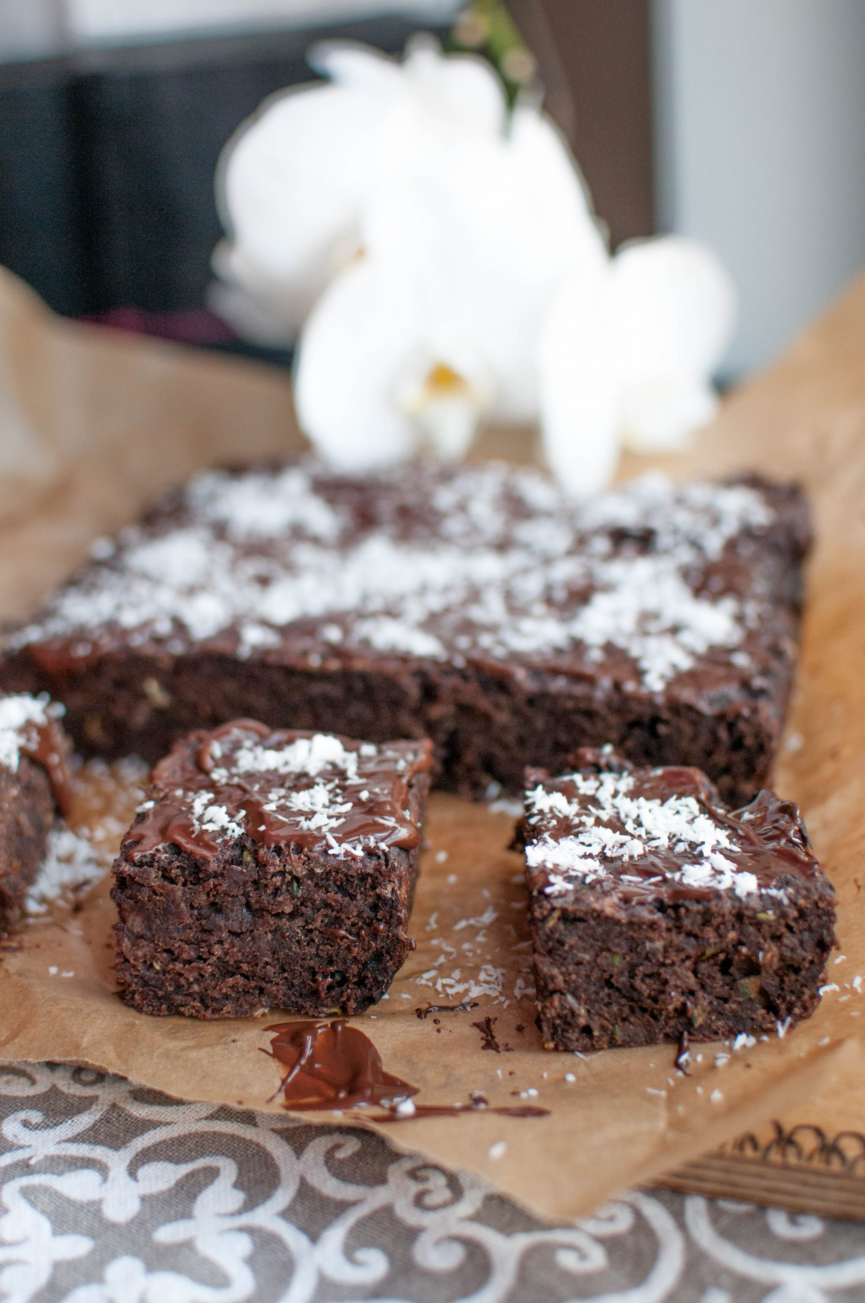Fit brownie z cukinii